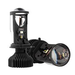 H4 9003 LED ミニ BI-LED プロジェクタヘッドライトレンズ 70W 5500K LED ライトバルブ