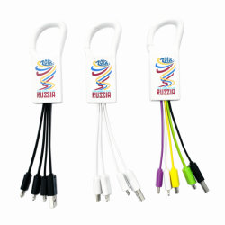 Все в одном из USB-кабель для зарядки с держателя карабина с несколькими портами Android Micro Тип C