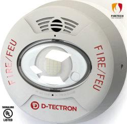 Sistema de alarma de incendios UL de montaje en techo/pared de la bocina de Sirena/Flash para aplicaciones de Indoor-Use DT961W/DT962W