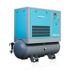 Industrial 11kW 15hp portátil cuatro en uno con inyección de aceite integrada 16bar Alto Compresor de aire de tornillo de presión con depósito de aire 500L para fibra Corte láser