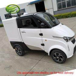 Cor de múltiplos 4 rodas L6e aprovado Mini Carro Eléctrico de Carga