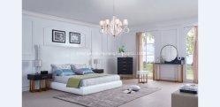 Moderno cama estofadas com acessórios de latão (SH-6603)