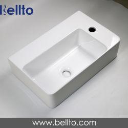 제조자 도매 호리호리한 목욕탕 세라믹 잘 고정된 손 세면기 (3082B)