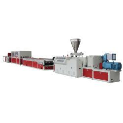 UPVC PVC WPC 목재 가구 기판 도어 윈도우 프레임 프로파일 기계 압출 제작 라인 압출기 장비 만들기