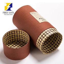 Fsc personalizado de impresión ecológica 4c borde plano vino de tubo de papel de embalaje Caja de papel