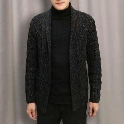 Весной и осенью шерстяной свитер жакет петличный вне мужчин износа толстый пуловер вязаные Вязаная кофта