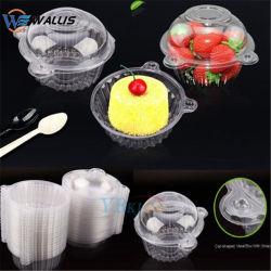 PP PS Patg ecológica Pet PVC redonda tazón de sopa de plástico transparente bocado de comida para llevar caja de embalaje