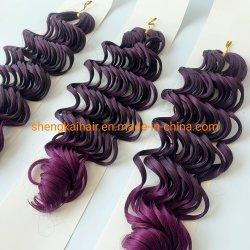 Groothandel Fashion Kleur hittebestendige vezel synthetische hardsolving Hair Extension