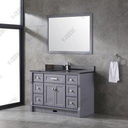 """48"""" Dissipador simples de madeira maciça moderno design único armário de banheiro"""