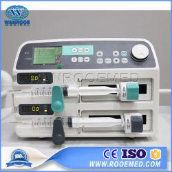 Wrsp-702患者のための医学の電気自動携帯用二重チャネルの注入のスポイトポンプ