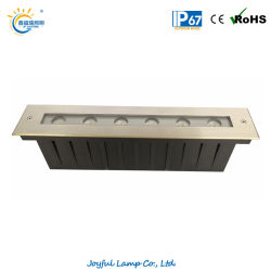 L'indicatore luminoso 6W della rondella della parete di IP67 LED ha messo la lampada sotterranea di paesaggio lineare sepolta indicatore luminoso chiaro di punto di Inground della striscia con la copertina dell'acciaio inossidabile