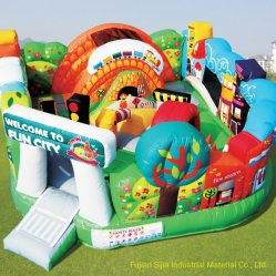 Sijia PVC Aufblasbare Spielzeug Polyester Stoff Material