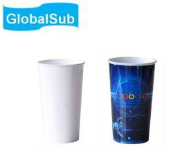 Großhandel 20oz Polymer Soda Cup Personalisierte Sublimation Kunststoff weiß Kaffeebecher