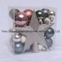 5cm nouvelles boules de Noël en plastique