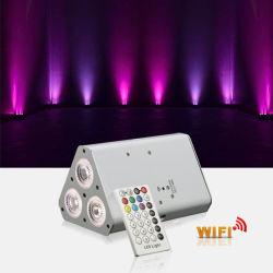 Водонепроницаемый и блок питания лампы DMX плата RGB Mini 18 с плоским экраном LED PAR лампа