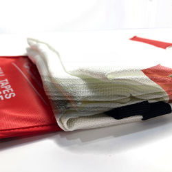 100% de fibra de vidro com retardante de incêndio cobertor 1m X 1m Emergency