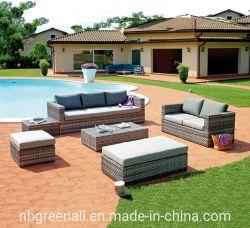 Комбинация для использования вне помещений из ротанговой пальмы и удобный диван патио с садом Наборы мебели