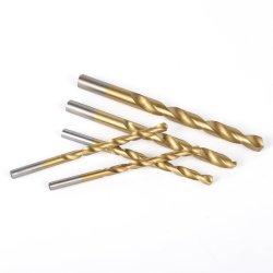 Tige ronde HSS revêtus de titane Twist forets pour métal, bois de forage en alliage aluminium en plastique
