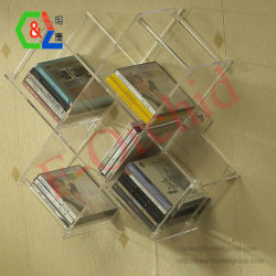 ホーム装飾の居間のためのアクリルのプラスチック壁ボックス棚の記憶のホールダーの表示