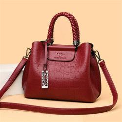 Hand-Knitted贅沢な女性デザイナー石の肩のメッセンジャー袋のハンドバッグ