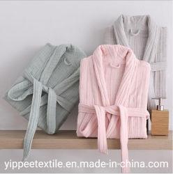 6layer 100%Cottonの綿モスリンの浴衣の大人の浴衣