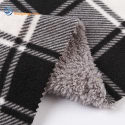 TPU 필름과 폴라 소재의 100% 폴리에스테르 멜란지 스타일 재킷 패브릭용 플리스 패브릭