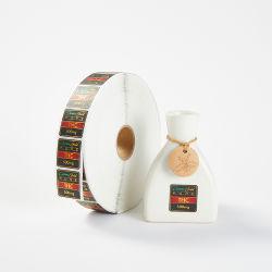 習慣は自己接着ブランドの防水シャンプー10mlのびんのラベルのサイズを印刷した