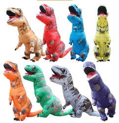 CER bunter lustiger Hallowen T Rex aufblasbarer Dinosaurier-Kostüm-Großverkauf