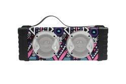 Madeira portátil colunas Bluetooth CH-M105, com TF/USB/FM/AUX/Viva-voz/LED/Lanterna