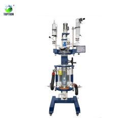 Venda a quente 100L reator de vidro de dupla camada química Decarboxylator para filtração e destilação de reacção de mistura