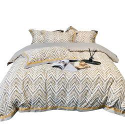 アメリカの上限の 100s 綿 4pcs セットの暖かい、厚くされたキルト カバーシートの冬の寝具