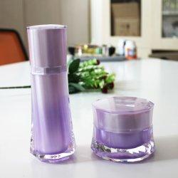 A extremidade alta Cristal plástico brilhantes frascos de soro de cuidados da pele Recipiente da bomba para embalagens de produtos cosméticos