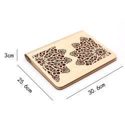 芸術のクラフトカスタム木カバー螺線形ジャーナルノート