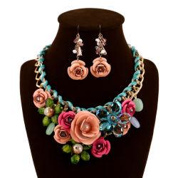 Ohrring-Halsketten-Schmucksachen Eeuropean und amerikanische Dame-Acrylblumen-Zubehör