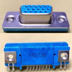 Conector D-Sub, Placa a placa, delgado, 15POS, hembra, DIP de 90°, la caída de 1,3 mm de la junta