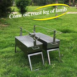 Barbecue Produkte von Kaltgewalzten Stahl Kohle Schaf Gabel Ofen Für Picknick 60 * 22 * 35cm
