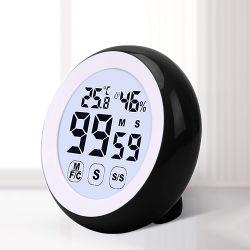 Multímetro Digital Timer com luz de fundo e Thermo higrómetro para Home