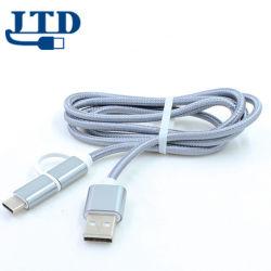 2.4A snel Micro- van de Overdracht Charging+Data Type C 8pin 3 in 1 USB Kabel, het Koord van de Lader van Gegevens voor iPhone voor Samsung