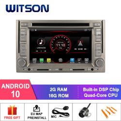 Processeurs quatre coeurs Witson Android 10 Lecteur de DVD de voiture pour Hyundai H1 construit en fonction DVR