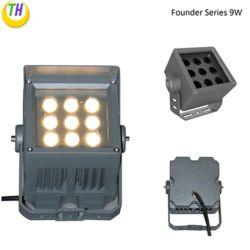 전원 실내 IP65 방수 IP65 9와트 LED 투광 조명 광장 빌딩 조명용