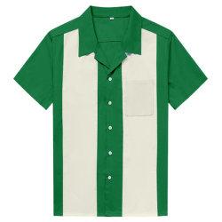 Bouton d'hommes chemises Rockabilly jusqu'à la vente de gros de chemises de concert