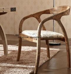 Président de loisirs à la mode Cafe Tables et chaises fauteuil personnalisé Combinaison de meubles de style loft country américain Retro en bois massif (M-X3294)