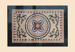 Черный и коричневый шаблон Waterjet мраморным медальон