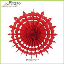 Красный Honeycomb снежинка бумага электровентилятора системы охлаждения двигателя