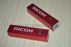Logo de Ricoh cadeau promotionnel 2600mAh Banque d'alimentation