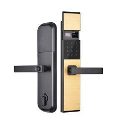 Combinaison d'empreintes digitales Code magnétique de sécurité de la poignée de verrouillage de porte de l'hôtel Smart