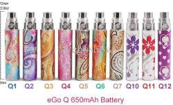 2014美しい650mAh/900mAh/1100mAh EGO-Q Battery
