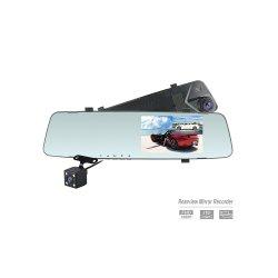 1080P приборной панели автомобиля камера 4.3inch зеркало заднего вида двойной записи Car DVR видеорегистратор