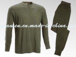 O inverno roupas íntimas Suit Thermal em Oliva verde com design clássico simples