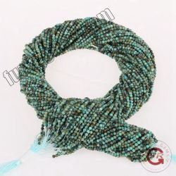 Gemstone Loose Turquoise Taille des brins de 2mm 3mm turquoise de l'Afrique perles naturelles